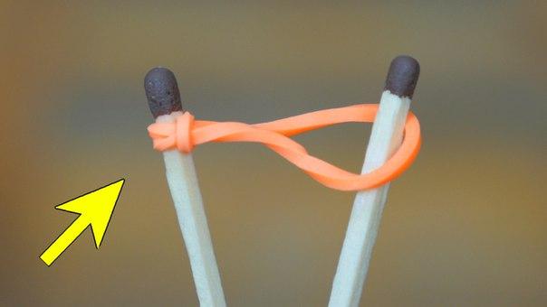Попробуй - разжечь- костер -с -помощью -простой- резинки