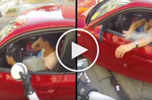 Image result for Нахалка выбросила бутылку из окна автомобиля. Тогда судьба преподнесла ей урок